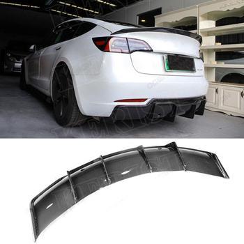 Carbon Fiber  Rear Diffuser 2pcs Fit For Tesla model 3 2017-up  Car Accessories
