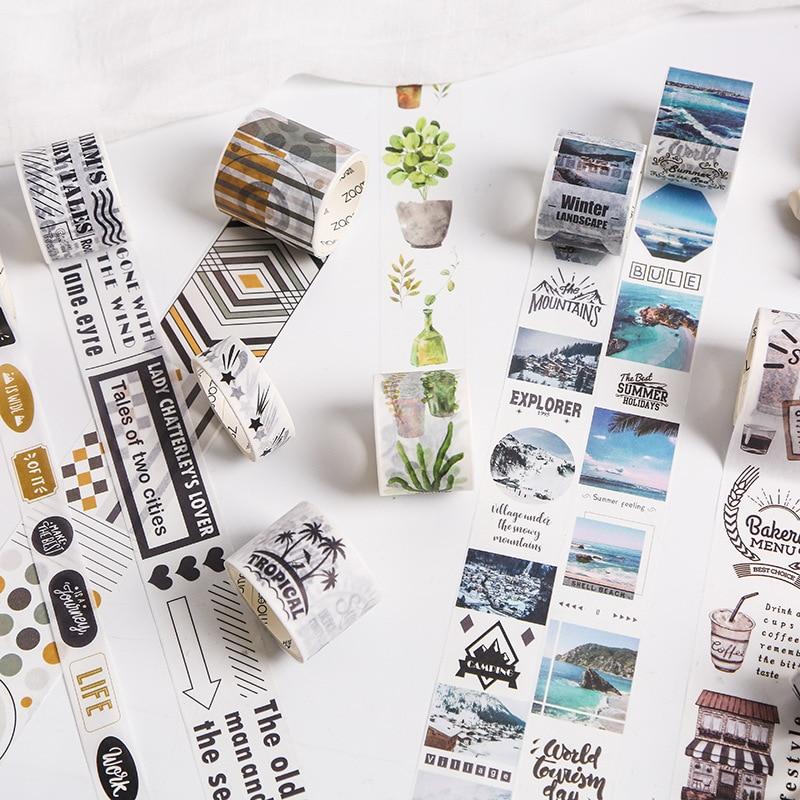Romantic Travel Photography Washi Tape Diy Album Decorative Adhesive Tapes Scrapbooking Sticker Label Stationery
