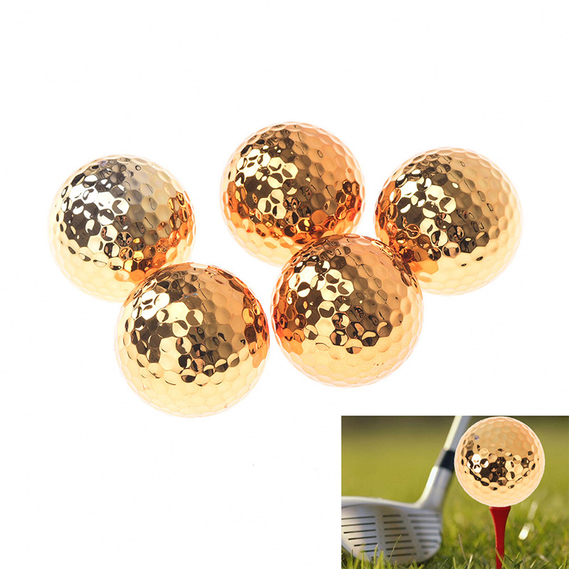 1pc Golf Plating Sports Competition Golden Novel Golf Ball Diameter About 42.7mm Golf Supplies