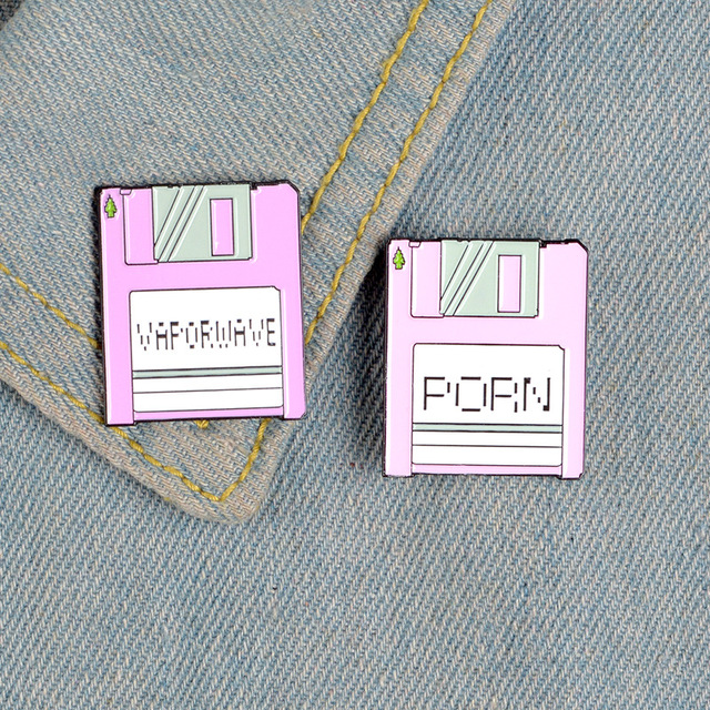 Pink Collection Enamel Pins Cartoon Recorder Typewriter Piano Lipstick Brooches Denim Shirt Backpack Gift For Friends Kids Women 1