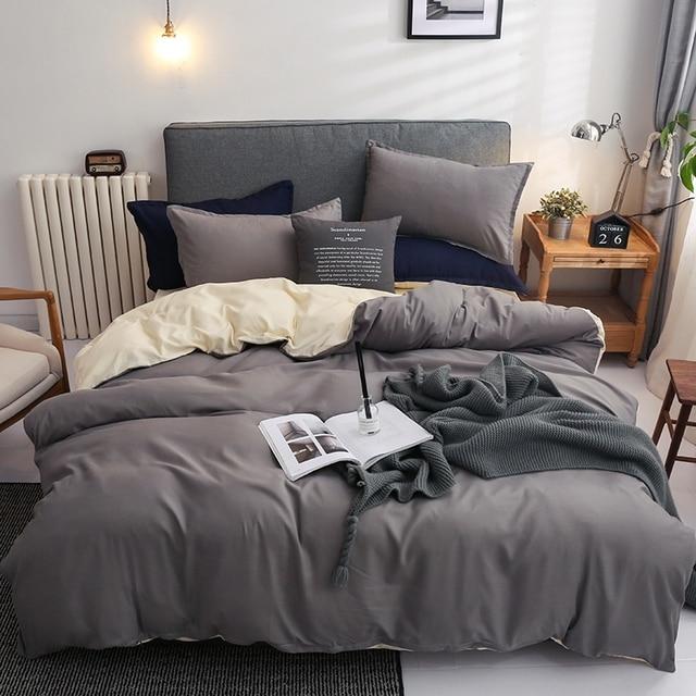 Nordic Bedding Set Grey Beige 21