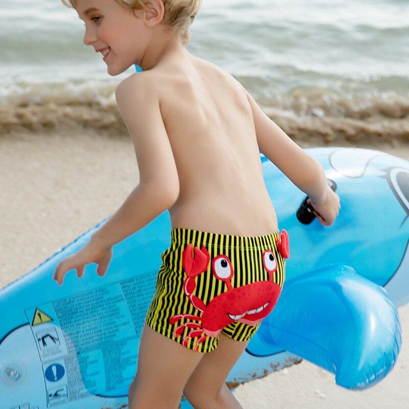 Children Infants Swimming Trunks Children Bathing Suit Multi-color Cartoon Shark Printed Cute Boxer Hooded BOY'S Swimming Trunks