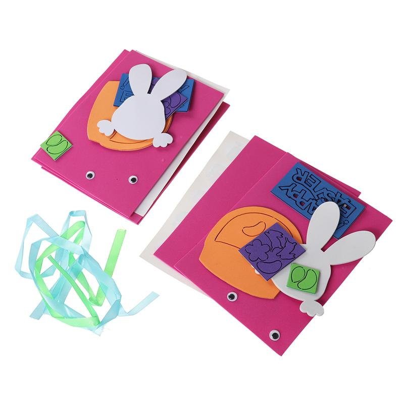 3pcs Easter Theme Greeting Cards Making