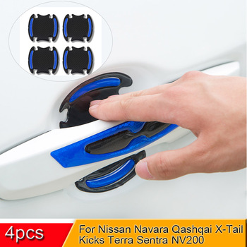 5D Car Door Handle Bowl Sticker And Decals Auto Reflective Strip Warning Safety Film For Nissan Navara Qashqai KICKS Terra NP200 image