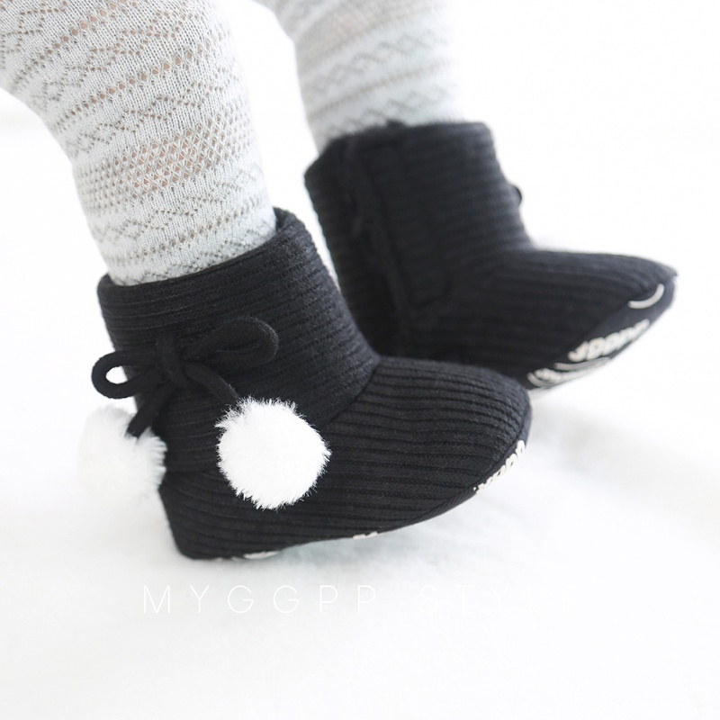 Autumn Newborn Baby Shoes Baby Girl Boy Polka Dot Knitting Boots Casual Sneakers Non-slip Soft Soled Walking Shoes New Arrival