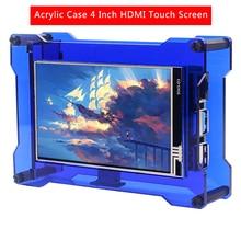 Option Display Raspberry Pi Tawny Acrylic-Case for 4-Model Blue Cooling-Fan/fan-Bracket