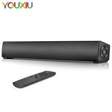 Barra de sonido inalámbrica y con cable, altavoces recargables Bluetooth, Estéreo Portátil con Control remoto, compatible con AUX, 20W