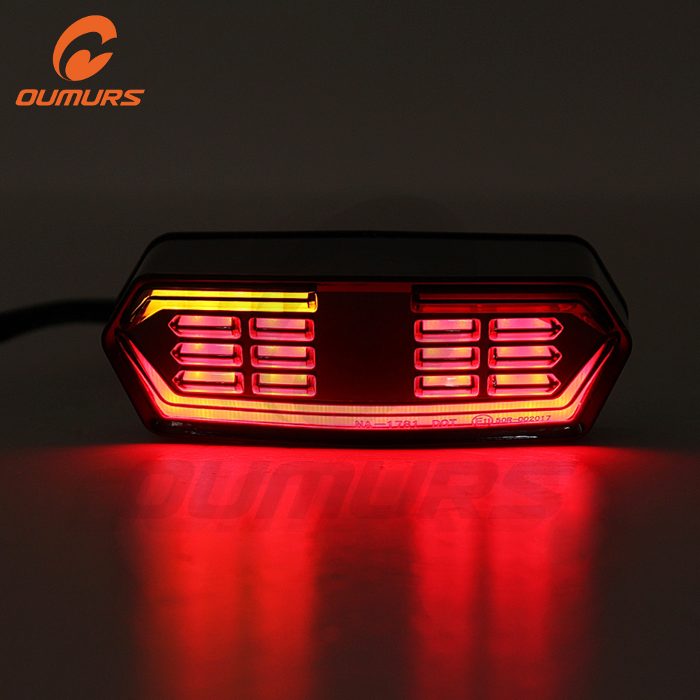 OUMURS Motorcycle Tail Light Flowing Runing Turn Signal Brake Integrated Lights For Honda Grom125 MSX125 CBR650F CTX700N 14-18