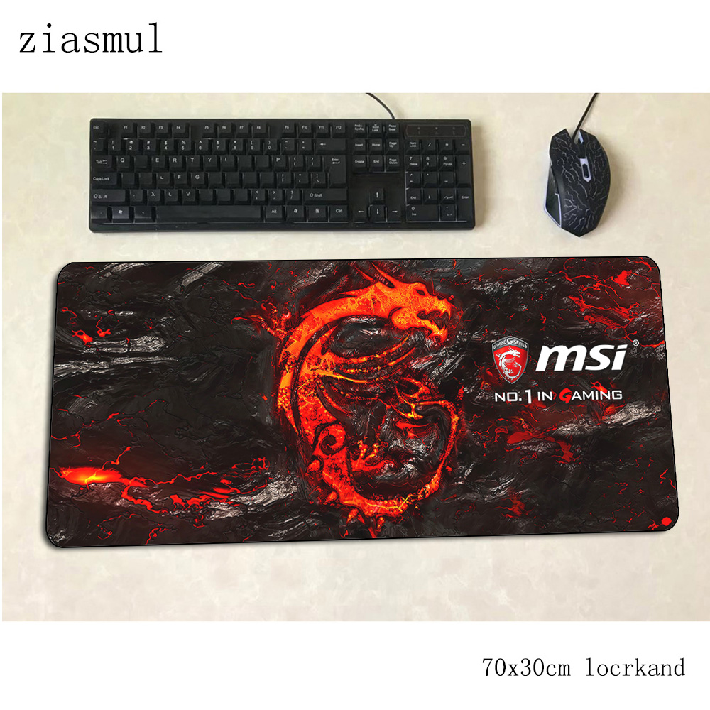 Msi Mouse Pad Gamer Locrkand 70x30cm Gaming Mousepad Pc Notbook Desk Mat Popular Padmouse Game Gamer Mats Gamepad