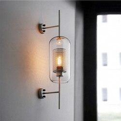 Amerykański styl przemysłowe Retro ściana światło w stylu Vintage kreatywny zwięzłe szkło salon restauracja Loft żarówki Edisona kinkiety ścienne