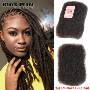 Black Pearl Brazilian Remy Hair Afro kinky Curly Bulk Human Hair For Braiding 1 Bundle 50g/pc Natural Color Braids Hair No Weft