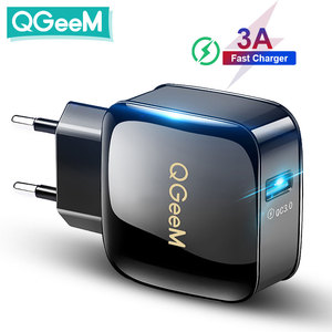 Image 1 - QGEEM QC 3,0 USB зарядное устройство Быстрая зарядка 3,0 зарядное устройство для телефона iPhone 18W3A быстрое зарядное устройство для Huawei Samsung Xiaomi Redmi EU US Plug
