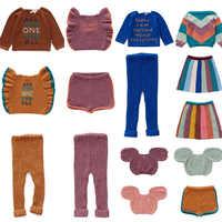2019 Enfant Oeuf Bambin Garçon Filles Tricoté Pull et Robe Leggings Enfants Mode Hiver Marque hauts Enfants Crochet hauts pullover