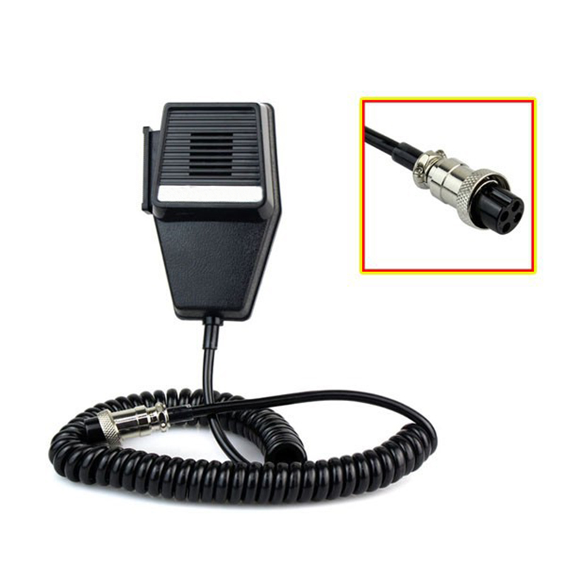 CB Car Intercom Hand Microphone CB Car Walkie Talkie Speaker 4 Holes Pin Car Microphone CB Car Radio Headset For Cobra  PR240 PR245 PR350 PR375 PR550 PR3000 PR3100 PR3175 PR4000 PR4200 PR4250MRHH100 MRHH200