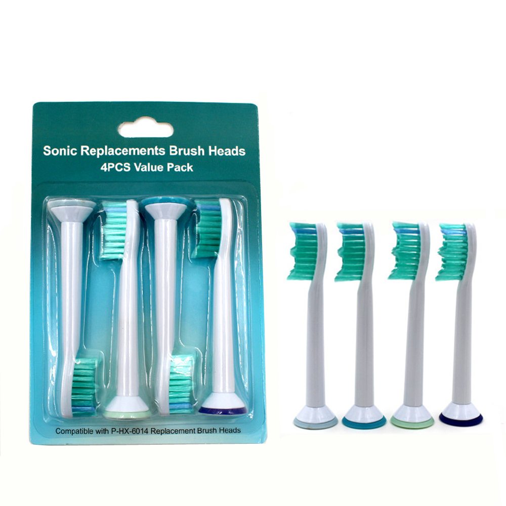 4pcs/lot Replacement Toothbrush Heads for Philips Sonicare ProResults HX6014 HX6930 HX9340 HX6950 HX6710 HX9140 HX6530 R930 image