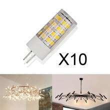 10pcs/lot G4 LED Light Bulb 5W 7W 220V Corn Lamp Warm White Crystal Chandelier