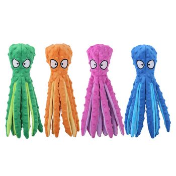 8 Legs Octopus Soft Stuffed Plush Squeaky Dog Squeakers Toy Interactive Squeaky Dog Toy Sounder Sounding Paper Chew Tooth Supply 1