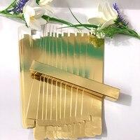 100pcs L*W*H. 1.5*1.5*14cm Silver Eyeliner Packaging Paper Box Gold Lipstick Pen Package box Eye liner