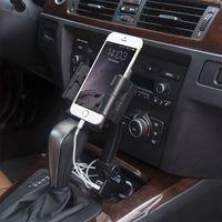 Dual USB Ports Auto Zigarette Leichter Lade Halterung für Handy GPS 95AF