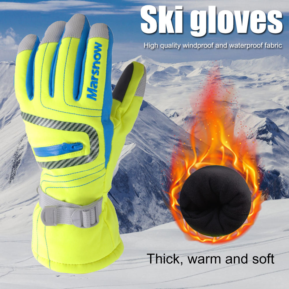 1 пара зима катание на лыжах перчатки для езды на велосипеде, Водонепроницаемый ветрозащитная одежда для родителей и детей теплые Термальность мотоциклетные перчатки для велосипедистов