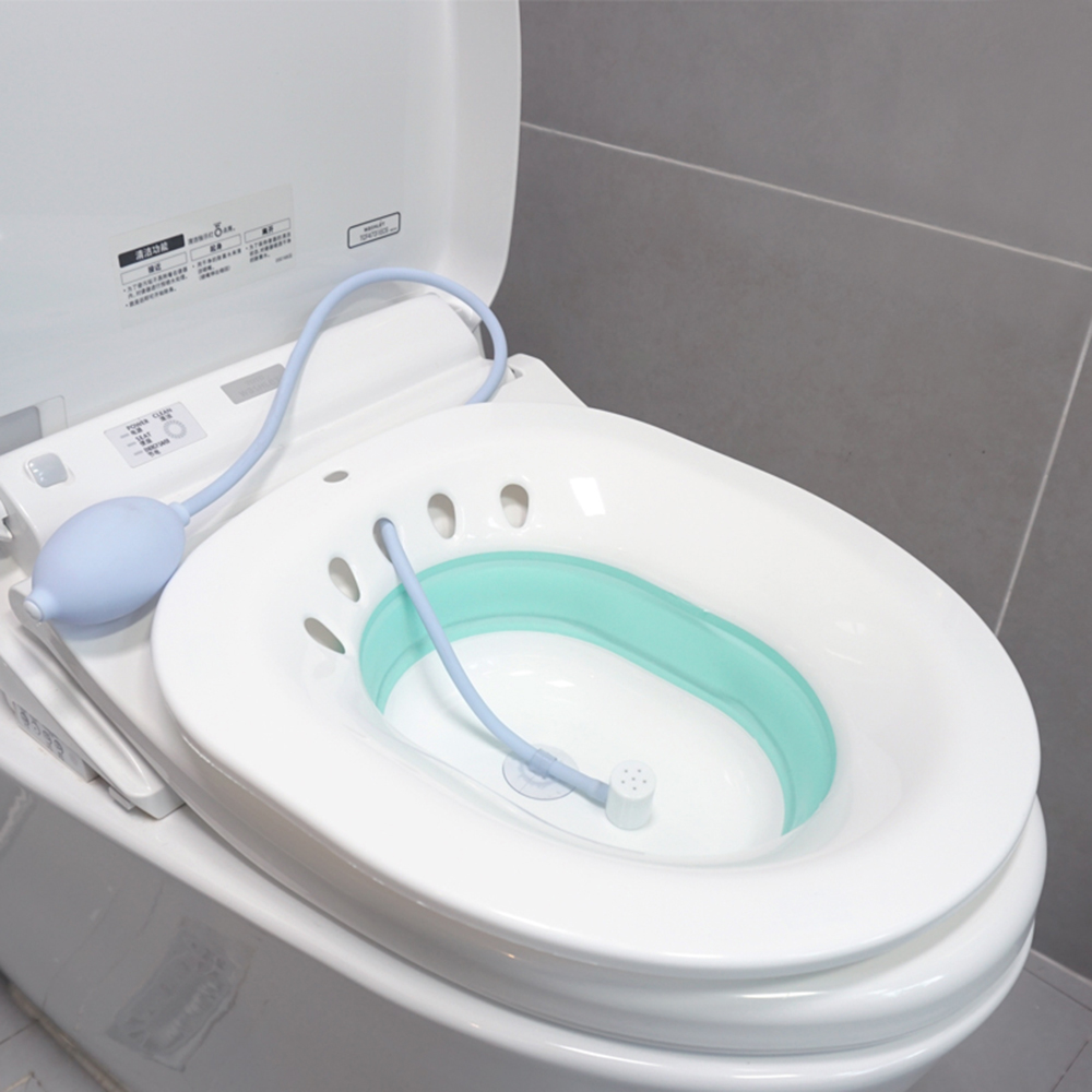 Foldable Free Bidet Female Private Parts Folding Wash Basin Men And Women Anal Fumigation Month Bowl Care