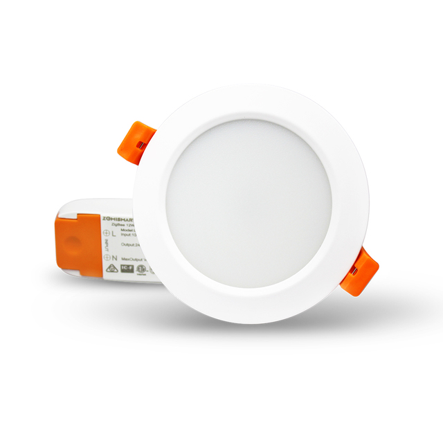 مصباح سقفي ذكي 12 واط زيجبي 3.0 RGBW Led متوافق مع إضاءة سقفية ذكية