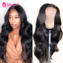 Perruque Lace Closure Wig Body Wave péruvienne Remy – AliPearl Hair, cheveux naturels, pre-plucked, 4x4, pour femmes