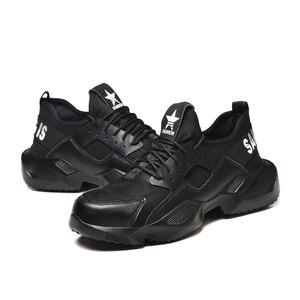 Image 3 - Dewbest 불멸의 라이더 신발 남성과 여성 강철 발가락 공기 안전 부츠 펑크 방지 작업 스니커즈 통기성 신발