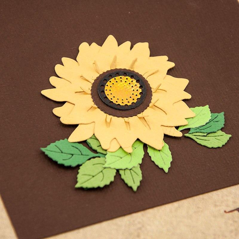 Sunflower Metal Cutting Dies New 2020 Flower Craft Dies Cut For Scrapbooking Stencil DIY Paper Cards Making