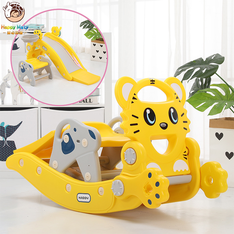 Infant Shining Slides For Kids Rocking Horse 4 In 1 Baby Toys Children's Slides Ride Horse Toy Multifunction Birthday Gift
