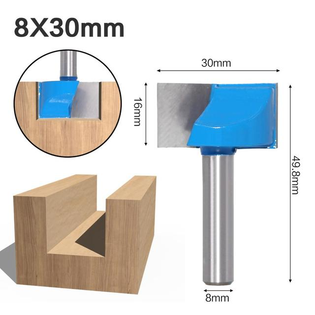 Size : No.6 SHENYUAN 1pcs 8mm Shank Wood Router Bit Black Cleaning Bottom Router Bit Carbide Woodworking Tools