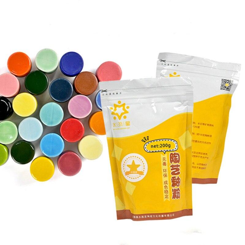 Ceramic Art Glaze Powder Monochrome Glaze Color Glaze Powder Glaze Medium High Temperature Glaze Powder Glaze 200g