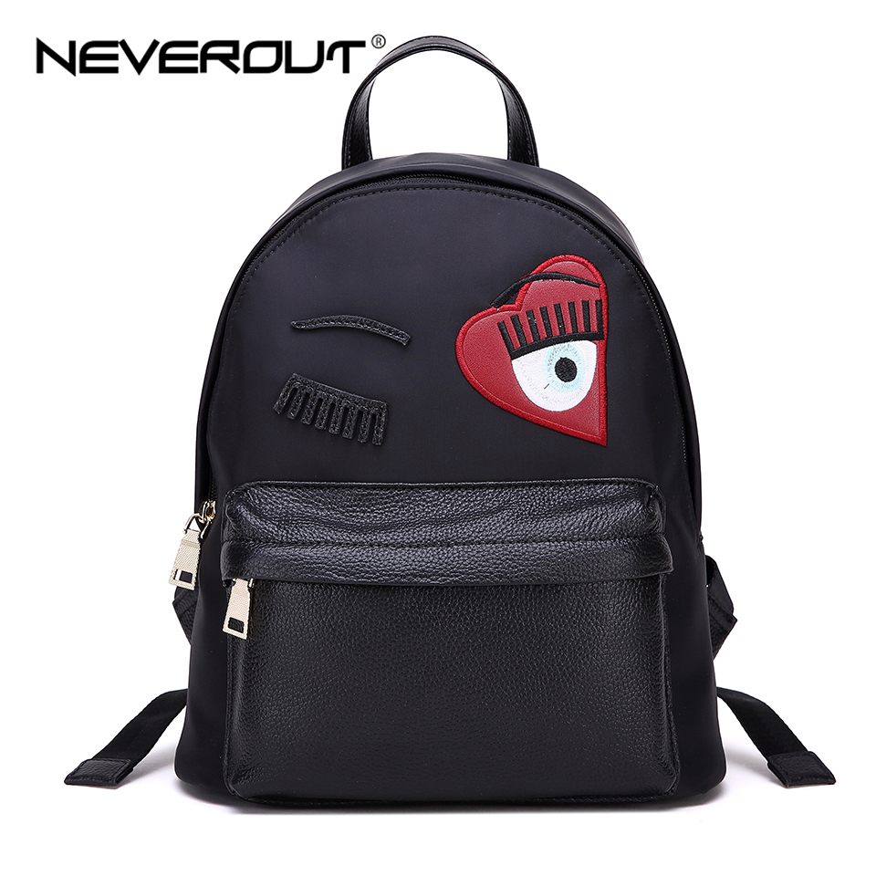 NEVEROUT Women Small Backpack Canvas Backpacks Travel Bags Female Casual Solid Zipper Bags Style Lady Backpack