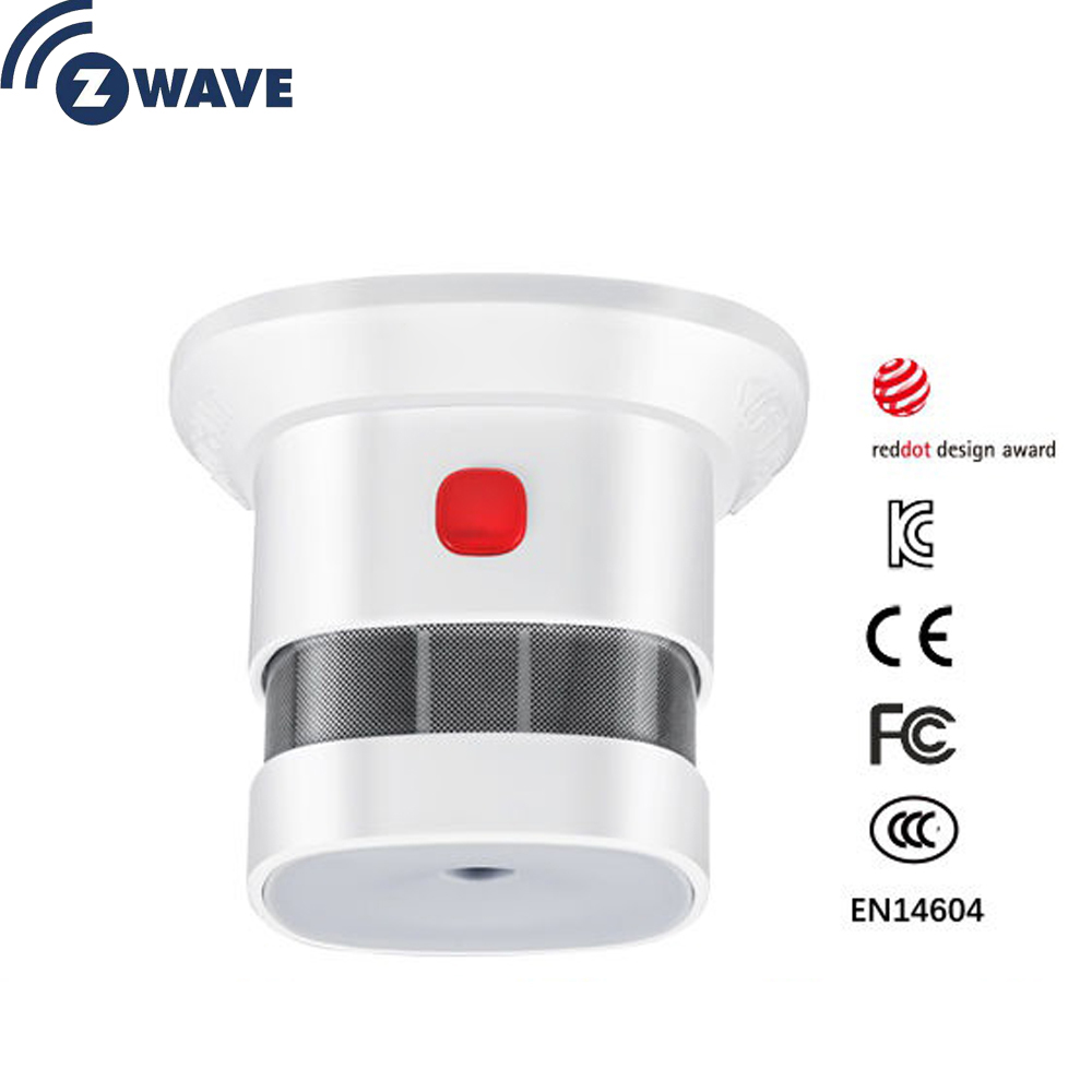 Z Wave Plus Sensor Smart Home EU Smart Smoke Sensor Smoking Detectors Home Automation Alarm System
