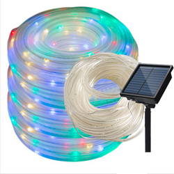 200/300 LEDs Solar Powered Rope Tube String Lights Outdoor Waterproof Fairy Lights Garden Garland For Christmas Yard Decoration