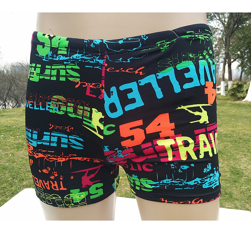 Boxer Beach Shorts Printed Low-Rise MEN'S Swimming Trunks Ultra-stretch Summer Adult Swimming Trunks Hot Springs Swimming Trunks