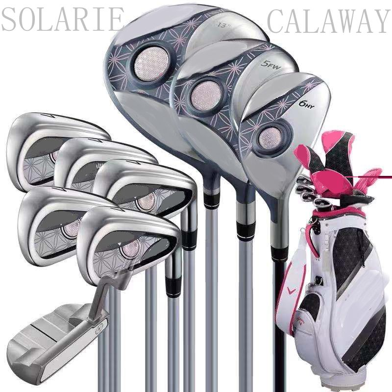 New Womens Calaway Golf Clubs Solarie Complete Sets Ladys Golf Set Drive Fairway Wood Irons Putter Graphite Shaft and Bag 1