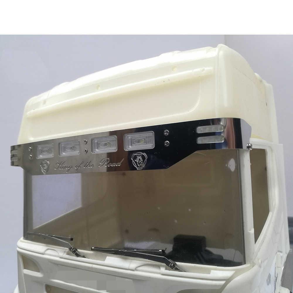 Metalen Zonneklep Met Led Licht Voor 1/14 Tamiya Rc Truck Scania 620 56323 730 470