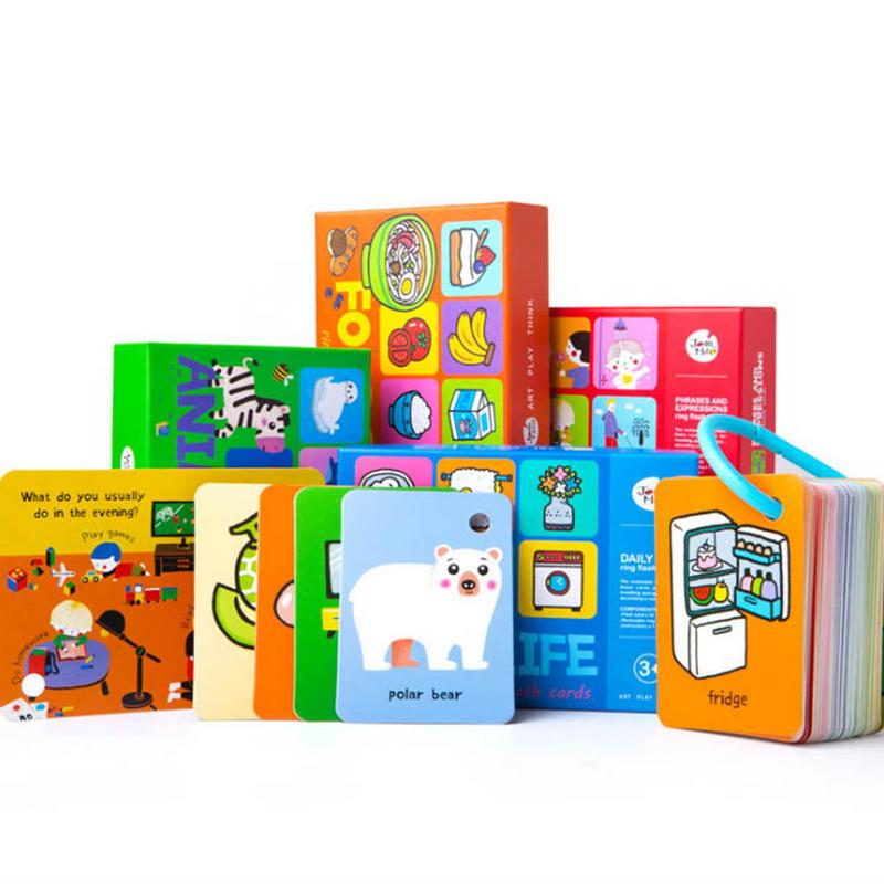 Children's Literacy Card English 0-6 Years Old Baby Early Education Puzzle Memory Card Cognitive Words Flash Card