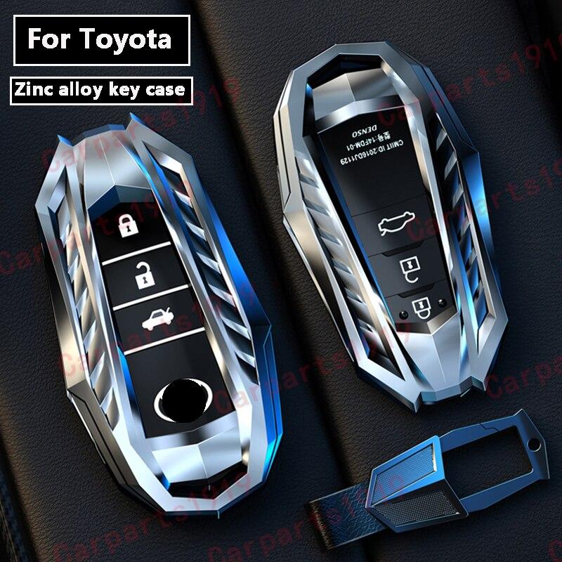 High quality New Zinc alloy car key case shell Full cover For Toyota Crown Highlander new RAV4 Camry Carola Leling Prado 2020