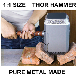 Collection cosplay replica size 1:1 marvel thor of hammer metal made tool prop