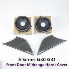 Copertura dellaltoparlante della porta anteriore dellautomobile per BMW G30 serie 5 pannello proteggi Stereo Midrange altoparlante coperchio del clacson aggiornamento sostituzione Trim