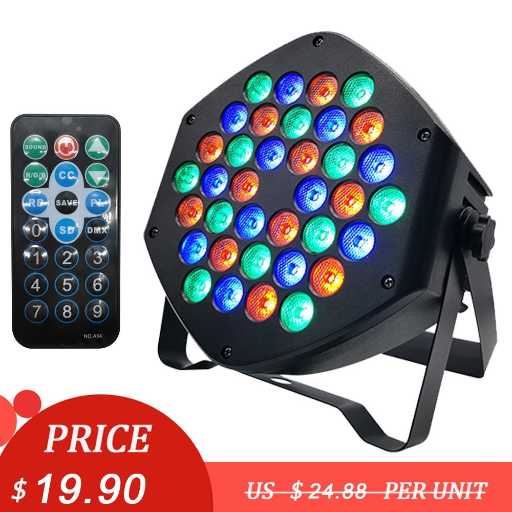 Mini LED Par Lights 36x3W RGBW DJ Par Lights RGB Wash Strobe Disco Lamp DMX Control Effect For Club Bar Party Stage Lighting