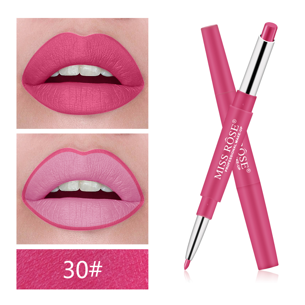 2 In 1 Lip Liner Pencils Waterproof Lipstick Fashion Long Lasting No Blooming Beauty Makeup Color Optional Lip Liner Pen TSLM1