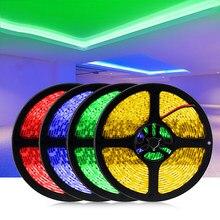 Taśma LED 5M nie wodoodporna DC12V oświetlenie wstęgowe taśma 300 LEDs elastyczna dekoracja LED Lights 12V lampa String żółty niebieski czerwony