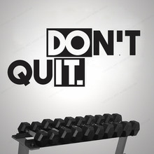 Don't Quit Do It Vinyl Wall Decal  Motivational quote fitness wall sticker lifestyle home wall decor JH199 gym fitness wall sticker motivational quote vinyl art decal removable home room decor