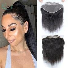 Berrys Hair – perruque péruvienne naturelle, cheveux humains vierges, lisses, d'une oreille à l'autre, Lace Frontal TRANSPARENT, pre-plucked, avec Baby Hair, partie libre, 13x6