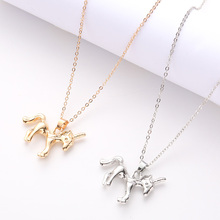 Personality Lady Pendant Necklace Cartoon Horse Jewelry Accessories Ladies Fashion Animal Unicorn Party