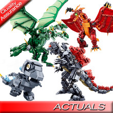 Godzillaingly Gigante Mostro Ghidrahed Rodaned Compatibile Legoed Building Block Re del Monstersed Giocattoli Dei Mattoni Costruttore(China)
