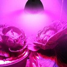 Lâmpada led hidropônica de 18 leds, phyto, para crescimento de plantas, e27, e14 e gu10, espectro completo, vermelho, azul